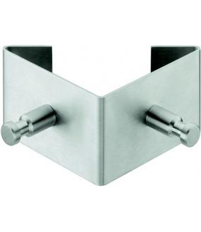 Twin knage i rustfrit stål - 2 kroge