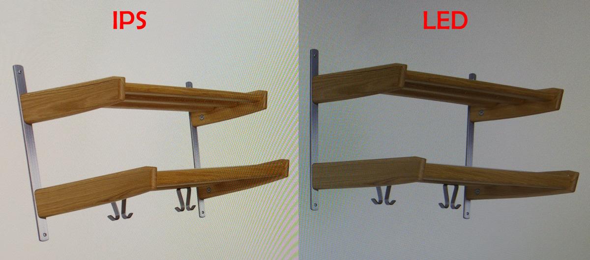Forskel på IPS og LED skærm. Kan du se forskellen?