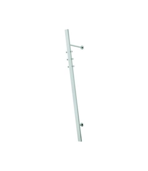 Credo-2 knagerække i rustfrit stål, skråhængt fra entremøbel fra entremøbel