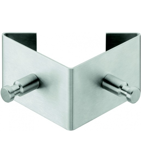 Image of   Twin knage i rustfrit stål - 2 kroge