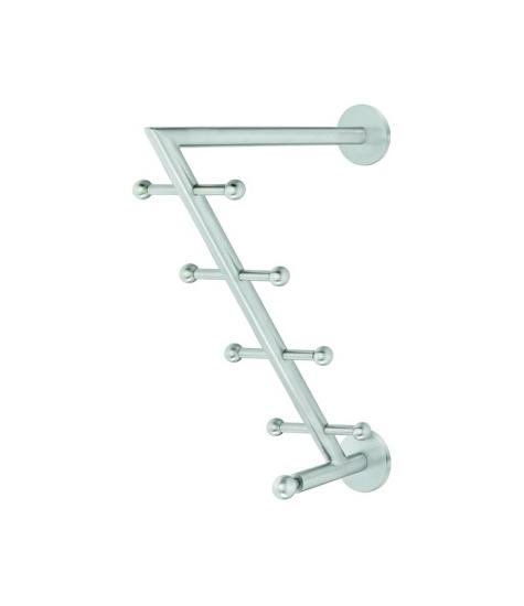 Image of   Garderobearm. 9 knager. Rustfri stål