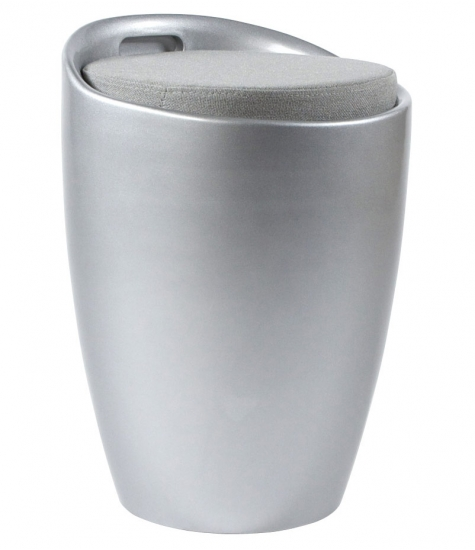 Ese taburet - sølv fra kokoon design på entremøbel